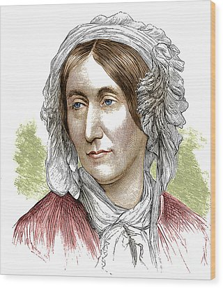 Mary Somerville, Scottish Polymath Wood Print by Science Source