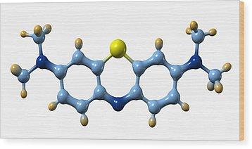 Methylene Blue, Molecular Model Wood Print by Dr Mark J. Winter