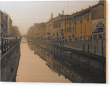 Milan Naviglio Grande Wood Print by Joana Kruse