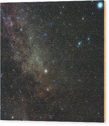 Milky Way In Cygnus Wood Print by Eckhard Slawik
