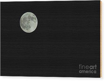 Moon Wood Print by Odon Czintos
