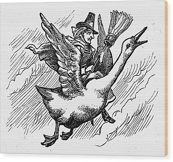 Mother Goose Wood Print by Granger