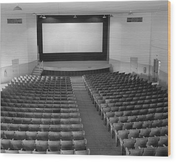 Movie Theaters, The Fort Mccoy Wood Print by Everett