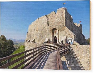 Neamt Fortress Wood Print by Gabriela Insuratelu