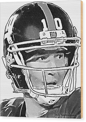 New York Giants  Eli Manning Wood Print by Jack K
