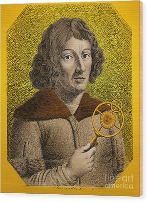 Nicolaus Copernicus, Polish Astronomer Wood Print by Omikron