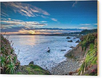 Pacific Grove Sunrise Wood Print