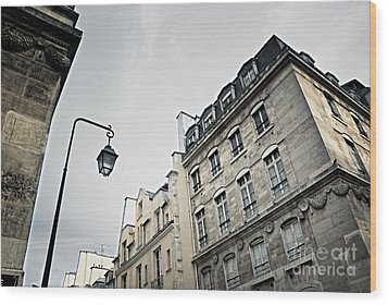 Paris Street Wood Print by Elena Elisseeva