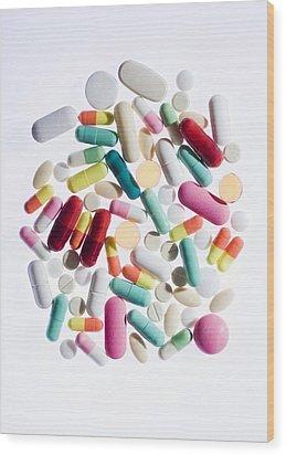 Pills Wood Print by Cristina Pedrazzini