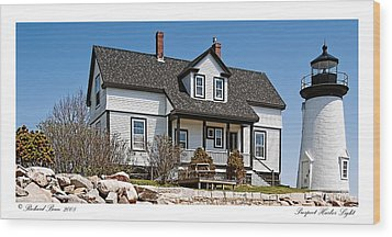 Prospect Harbor Light Wood Print