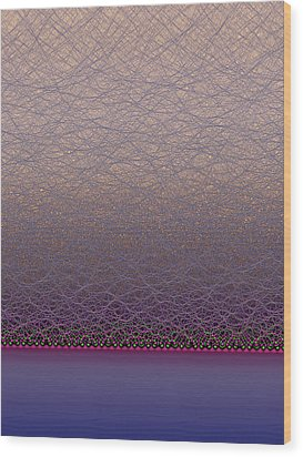 Quantum Waves Wood Print by Eric Heller