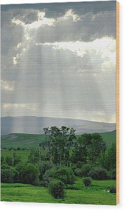 Rain Sun Rays Wood Print by Roderick Bley