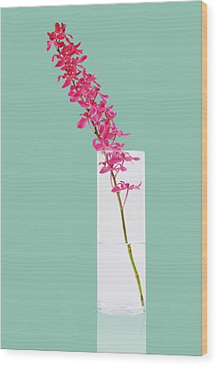 Red Orchid Bunch Wood Print by Atiketta Sangasaeng