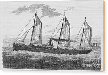 Refrigerated Ship, 1876 Wood Print by Granger