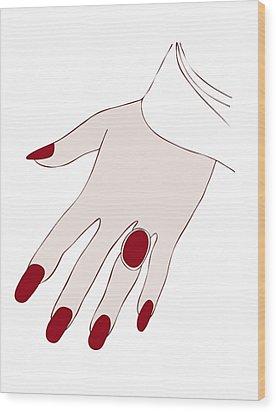Ring Finger Wood Print by Frank Tschakert