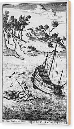 Robinson Crusoe Wood Print by Granger