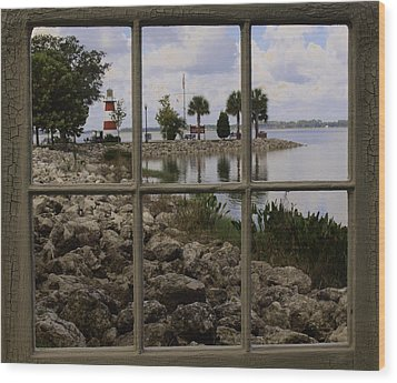 Room With A View Wood Print by Randy Sylvia