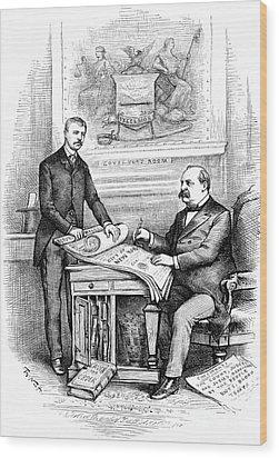 Roosevelt Cartoon, 1884 Wood Print by Granger