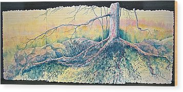 Rooted In Time Wood Print by Carolyn Rosenberger