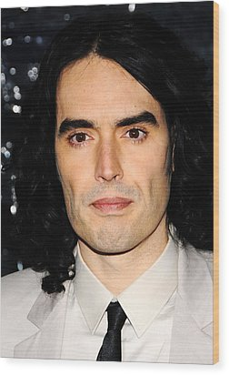 Russell Brand At Arrivals For Arthur Wood Print by Everett