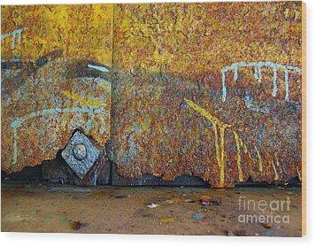 Rust Colors Wood Print by Carlos Caetano
