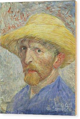 Self Portrait Wood Print by Vincent van Gogh