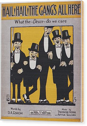 Sheet Music Cover, 1917 Wood Print by Granger