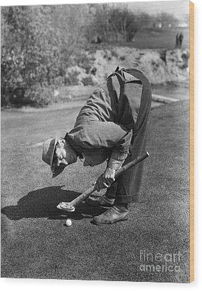 Silent Film Still: Golf Wood Print by Granger