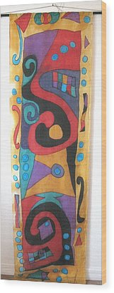 Silk Banner Wood Print by Yvonne Feavearyear
