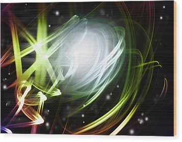 Space Background Wood Print by Les Cunliffe