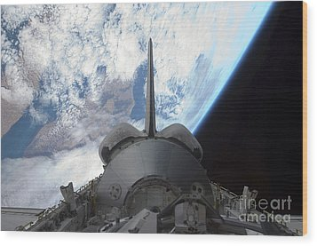 Space Shuttle Endeavours Payload Bay Wood Print by Stocktrek Images