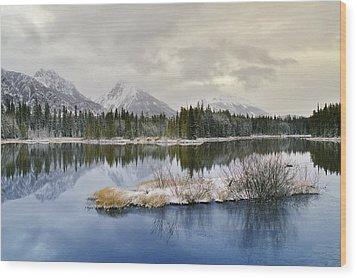 Spillway Lake And The Opal Range, Peter Wood Print by Darwin Wiggett