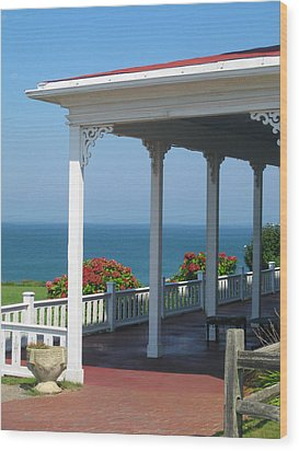 Spring House Porch  Wood Print by Rose Pasquarelli