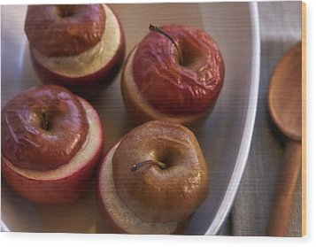Stuffed Baked Apples Wood Print by Joana Kruse