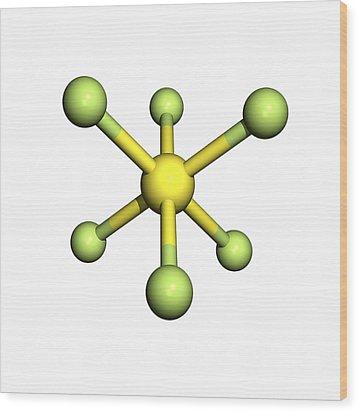 Sulphur Hexafluoride Molecule Wood Print by Friedrich Saurer