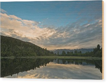 Sunrise Above A Lake On A Wind Still Morning Wood Print by Ulrich Schade