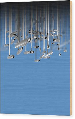 Surveillance, Conceptual Image Wood Print by Victor Habbick Visions