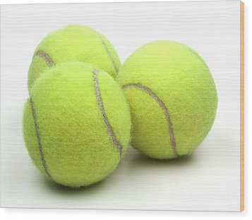 Tennis Balls Wood Print by Blink Images