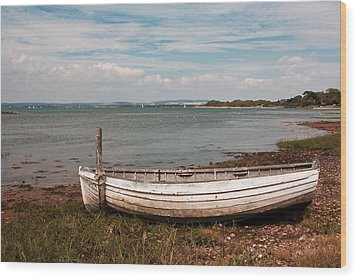 Wood Print featuring the photograph The Old Boat by Shirley Mitchell