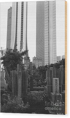Tokyo Wood Print by Bernard Wolff