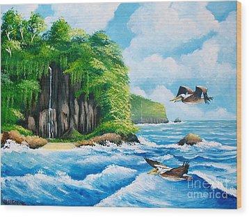 Treasure Island Wood Print