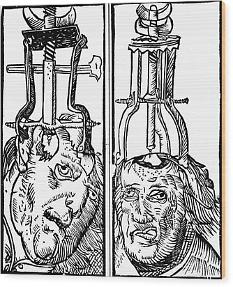 Trepanning 1525 Wood Print by Science Source
