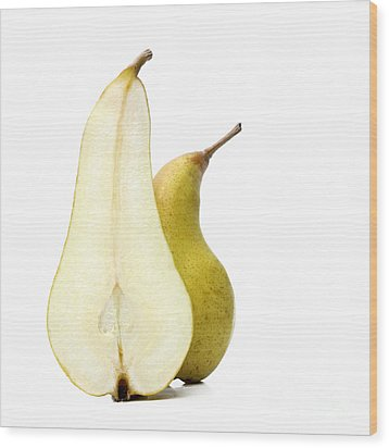 Two Pears Wood Print by Bernard Jaubert