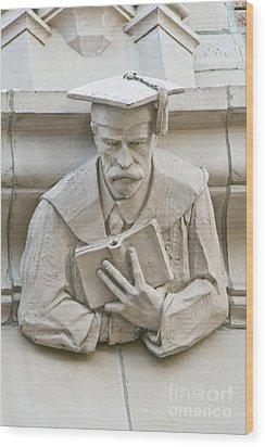 University Of Washington Exterior Artwork Wood Print by Rob Tilley