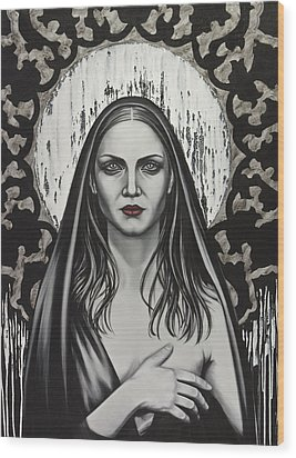 Untitled Wood Print by Mahtab Alizadeh