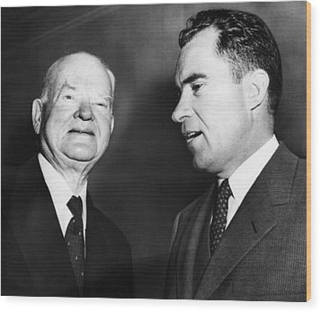 Us Presidents. Former Us President Wood Print by Everett