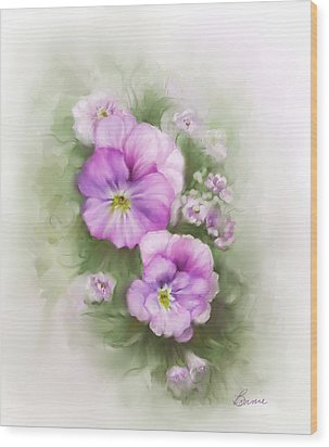 Viola Wood Print by Bonnie Willis