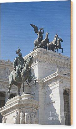 Vittoriano. Monument To Victor Emmanuel II. Rome Wood Print by Bernard Jaubert