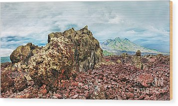 Volcano Batur Wood Print by MotHaiBaPhoto Prints