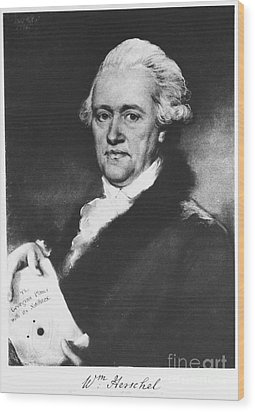William Herschel, German-british Wood Print by Science Source